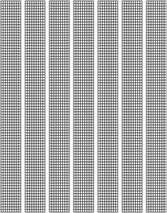 graph paper for making bead bracelet patterns