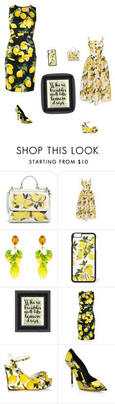 """""""When life gives you lemons"""" by stay-strongforever ❤ liked on Polyvore featuring moda, Dolce&Gabbana, women's clothing, women's fashion, women, female, woman, misses y juniors"""