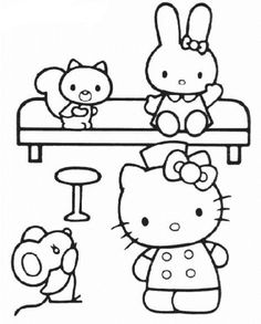 Hello Kitty Nurse Coloring Pages Printable And Book To Print For Free Find More Online Kids Adults Of