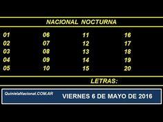 Quiniela Nacional Nocturna Viernes 6 de Mayo de 2016 www.quinielanacional.com.ar