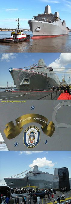 uss new york LPD -21 built from the wtc steel....proud momma of a plankowner