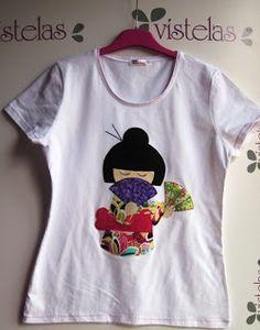 Camiseta Kokeshi