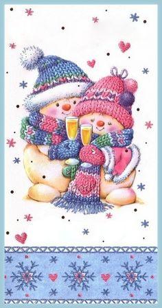 Florynda del Sol ღ☀¨✿ ¸.ღ ♥Marina Fedotova♥ Anche gli Orsetti hanno un'anima…♥ Clipart Noel, Snowman Clipart, Christmas Clipart, Christmas Pictures, Christmas Snowman, Christmas And New Year, All Things Christmas, Christmas Time, Vintage Christmas