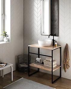 diy home decor ideas Metal Furniture, Bathroom Furniture, Bathroom Interior, Furniture Design, Home Design Floor Plans, Toilet Design, Restaurant Furniture, Home And Deco, Bathroom Inspiration