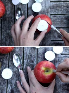 DIY Apple Votives. #...