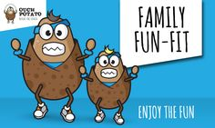 Bring the kids and join us at Ouch Potato Gym for fun and energetic family fun-fit classes every Saturday in Acomb, York. York Fitness, Potato, Family Guy, Gym, Comics, Illustration, Kids, Fictional Characters, Young Children