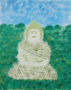 Obert Fittje Green Fractal Monk absolutearts.com