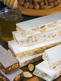 size: Photographic Print: Turron (Spain), Torrone (Italy) or Nougat (Morocco), Confection of Honey, Sugar, Egg White and Nuts by Nico Tondini : Entertainment Chocolate Filling, Salty Cake, Cheesecake Bars, Savoury Cake, Dessert Recipes, Desserts, Quick Easy Meals, Clean Eating Snacks, Chocolate Recipes