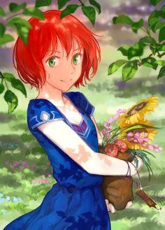 Snow White with the Red Hair: Shirayuki Red Hair Green Eyes Girl, Slice Of Life, Manga Anime, Anime Art, Otaku, Maou Sama, Akagami No Shirayukihime, Snow White With The Red Hair, The Ancient Magus Bride