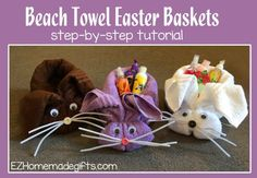 beach towel easter basket featured