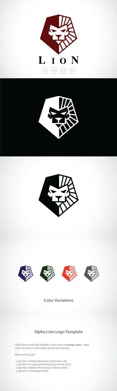 Alpha Lion Logo Template. Logo Templates. $29.00