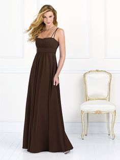 After Six Bridesmaid Style 6525 Really liking the empire waist style and the espresso colour!   http://www.dessy.com/dresses/bridesmaid/6525/#.UsBnc3i9Kc0