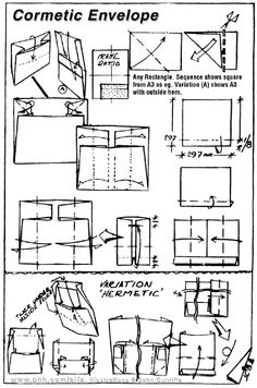 Envelope and Letter Folding: Cormetic Envelope