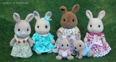 Sylvanian Families - rabbits by Worlds-in-Miniature