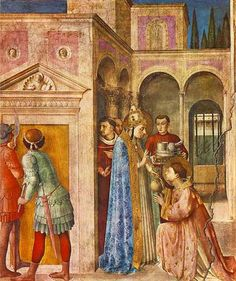 St Lawrence receiving the Treasures of the Church - Fra Angelico