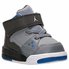 Boys' Toddler Jordan Flight Origin Basketball Shoes| FinishLine.com | Cool Grey/White/Anthracite