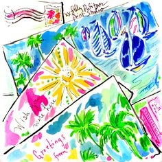 Your dream destination on us…now until 12/31 with a single purchase of $1,500+ receive a FREE* domestic flight on us. *Click this image for official promotional details and terms. Lilly Pulitzer Prints, Lily Pulitzer, Free Printable Art, Fabric Patch, Digital Scrapbook Paper, Cute Illustration, Cool Art, Art Photography, Artsy