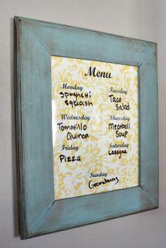 Cute little diy menu board that even a dummy can make :)