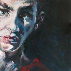 """seiner selbst"" 2015, 100 x 100 cm, acryl auf leinen Joker, Gallery, Painting, Fictional Characters, Linen Fabric, Roof Rack, Painting Art, The Joker, Paintings"