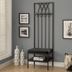 Monarch 72-inch Black Hammered Metal Entry Bench | Overstock.com Shopping - Great Deals on Benches