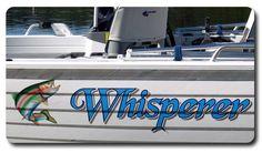Boat Graphics - Whisperer - by www.boatnames.com.au