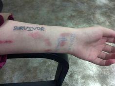 #survivor #tattoo #hardcore tattoo