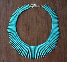 My turquoise spike necklace is on sale on Uncovet.com today!
