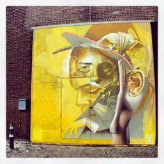 "Street art | Mural ""Inability"" (Schiedam, The Netherlands) by Telmo Miel [duo Telmo Pieper and Miel Krutzmann]"