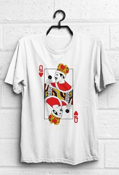 Freddie Mercury funny tshirt with queen game card design.  Size chart in last photo. Please purchase with it.  *** If you dont have a Paypal account,