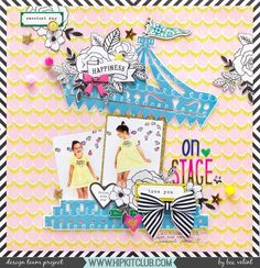 Our carousel cut file for August was such a hit with the designers! Designer @beavalint used it together with the August 2017 Hip Kits to create this stunning layout!
