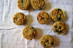 almond flour peach blueberry muffins...sounds incredible, love the writing, need to go buy these ingredients...