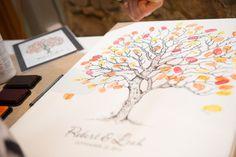 Guest Fingerprint Art - Autumn Colours www.alexisatkins.com