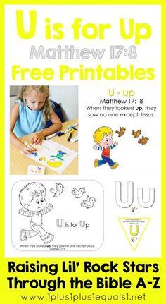 Raising Lil Rock Stars Letter U Printables FREE