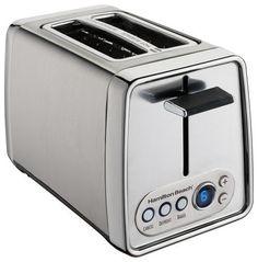 Hamilton Beach - 2-Slice Extra-Wide-Slot Toaster - Modern Chrome