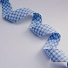 25mm per 4 metres Rustic gingham bias binding Always Knitting /& Sewing blue red /& yellow cotton green blue