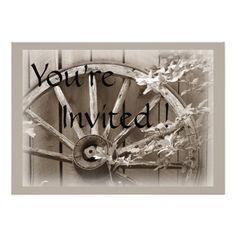 Country Wedding Invitations | Rustic Country Wedding Invitation