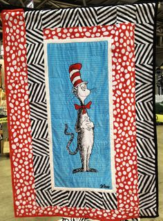 Cat Panel quilt The Cat In The Hat Cuddle Room- Intl. Quilt Market Spring 2012