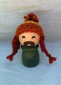 Jayne Cobb wooden peg doll #firefly