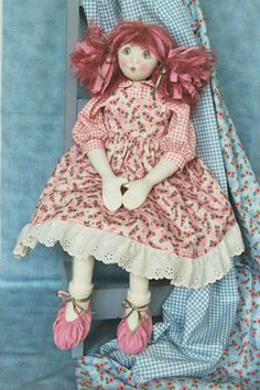 "Dolls- Katkins Designs Shop- Katkins Designs- Katkins Designs Shop- ""Lizzie"" pattern- - Cloth Doll, kits, patterns, accessories, pens and pr..."