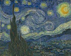La noche estrellada es una genialidad de Van Gogh. No hay nada mejor que esto. Una obra maestra.