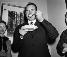Richard Nixon Eating Birthday Cake