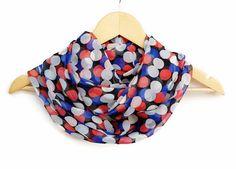 Circle Scarf Chiffon Polka Dots Colorful Infinity by HeraScarf, $9.90