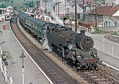 Somerset and Dorset Steam Trains Uk, Disused Stations, Railroad History, Steam Railway, British Rail, Model Train Layouts, Train Journey, Isle Of Wight, Steam Engine
