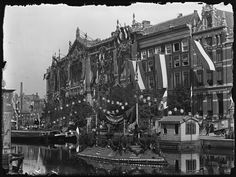 Oude Turfmarkt | Rokin - zuid, Amsterdam 1898. Foto: Jacob Olie