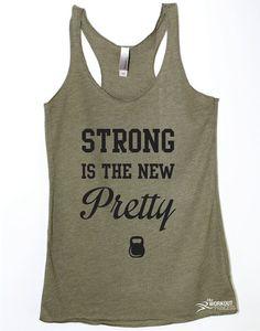 Womens Gym Tank Workout Motivation Strong is by TheWorkoutPrincess