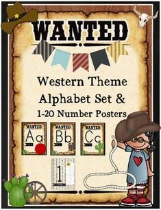 Boot Scoot and Boogie in your classroom this year with this Western Theme Alphabet Set and 1-10 Number Card Set!Included:A-Z Alphabet Cards (Kindergarten Friendly Print Font)1-20 Number CardsBoth the alphabet and number cards include visual graphicsPlease do not hesitate to ask any questions prior to or after purchase!Thank you and Enjoy!Mrs.