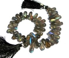 8 Inches / 65 Pieces Natural Blue Flashy by RareGemsNJewels, $51.00