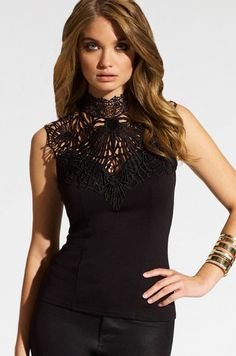 Applique Spliced Halter Club Top