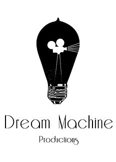 dahndesigns | identity design keywords: antique lightbulb, projector, filament, film company logo, black and white, scale,
