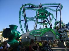 Green Lantern Six Flags Magic Mountain, I Literally went the week before they opened this